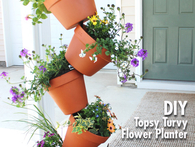 Topsy turvy flower planter