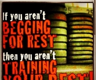 You arent training your best