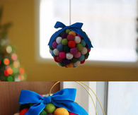 DIY colorful cotton decoration ball