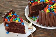 M&M and Kit Kat Cake
