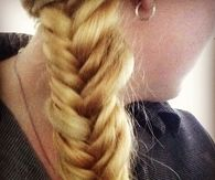 Fishtail blonde braid