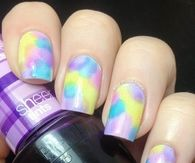 Colorful pastel nails