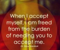 When I accept myself