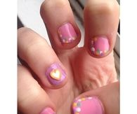 Cute pink easter nails