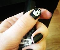 Black Anchor nails