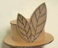 Kids cardboard hat project