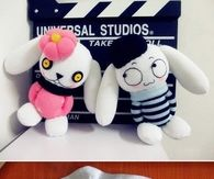Cute sock couple rabbit dolls
