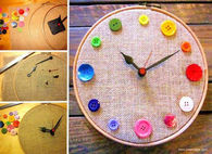 Button Clock DIY