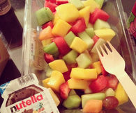 Nutella and fruit salad