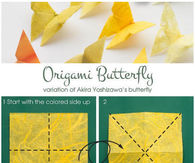 DIY Yellow Butterfly