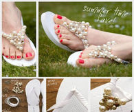 DIY Pearl Bead Slippers