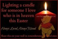 lighting a candle for someone I love in Heaven