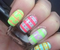 Easter egg inspired nails