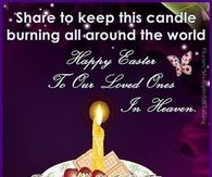 to our loved ones in heaven