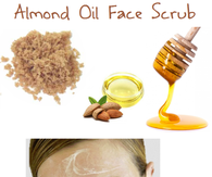 DIY Almond Oil Face Scrub