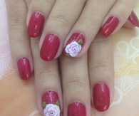 Love rose nails
