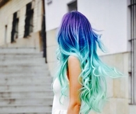 Blue amazing curls