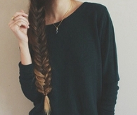 Honey blonde fishtail braid