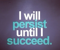 I will persist until I succeed