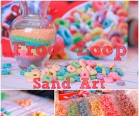 Froot Loop Sand Art