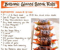 DIY Balsamic Glazed Steak Rolls