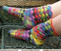 DIY Rainbow Knitted Socks