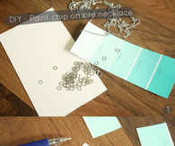 DIY PAINT CHIP CHEVRON OMBRE NECKLACE