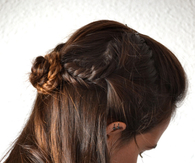 DIY Half Up Braid Bun