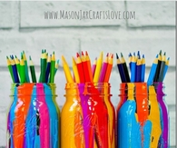 DIY Paint Drip Mason Jars
