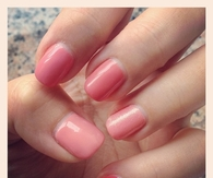 Different pinks of nails