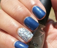 Blue ice nails
