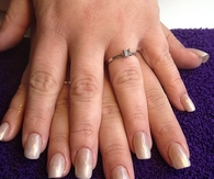 Wedding ombre nails