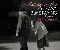 Staying in love is very special
