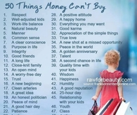 50 things money cant buy