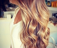 Honey blond curls