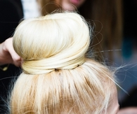 Bright Blonde bun