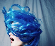 Blue hair art