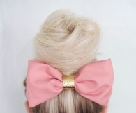 Big pink hair bow