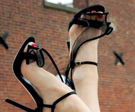 Cute & Flirty Black High Heels