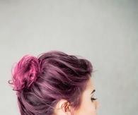 Dark pink bun