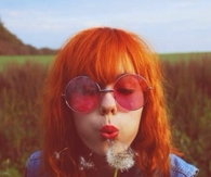 Orange messy hair