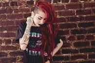 Half hair red head