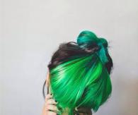 Green dyed hair