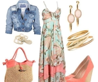 Summer Dress with Denim Jacket
