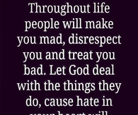 Let God deal with the things people do