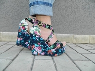 Cute Floral Wedges