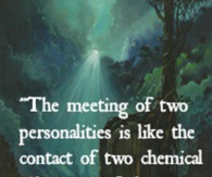 The meeting of two personalities