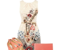 Cute Summer Dress with Wedges