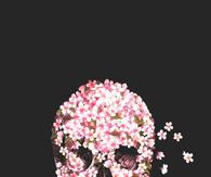Skull flower art