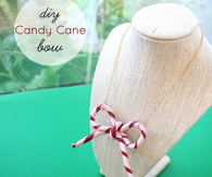 DIY Candy Cane Bow